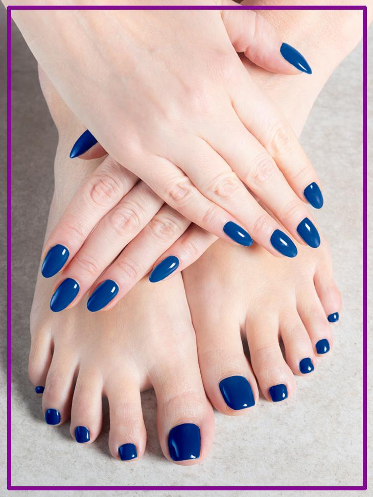 Nail manicure and pedicure in Nashville salon